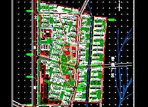 某居住小区总平面图免费下载 园林绿化及施工图片