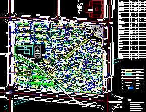 某住宅小区总平面图免费下载 园林绿化及施工图片