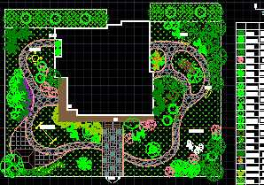 某别墅绿化设计图建筑设计院龙岗深圳图片