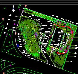 某生态园庭院景观绿化全套设计图纸