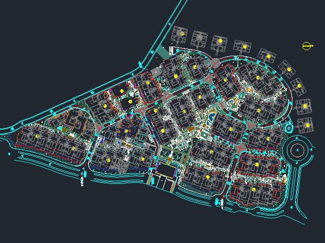 某住宅区绿化景观设计图