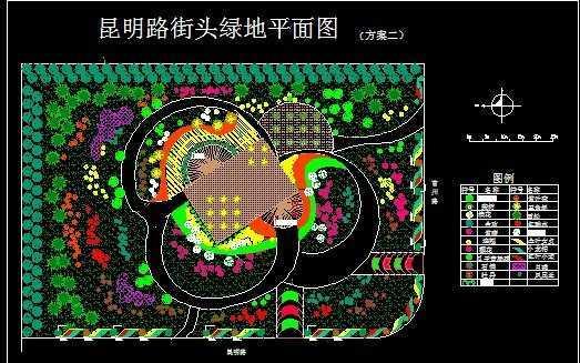 街头绿地平面图设计方案