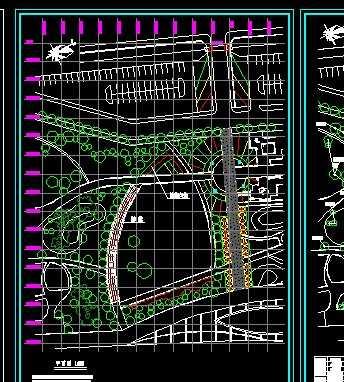 某小区局部绿化设计平面图