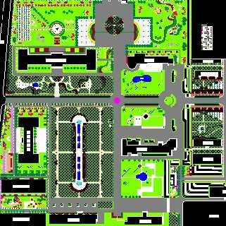 某大学校园规划平面图