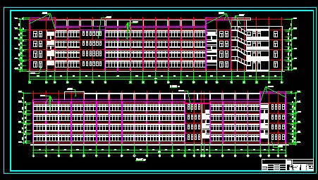 四层框架综合教学楼工程预算书(工程量计算、图纸)