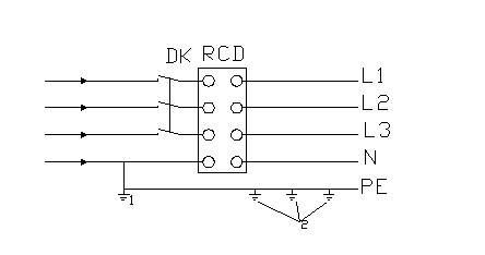 三相四线供电时局部tns接零保护系统保护零线引出