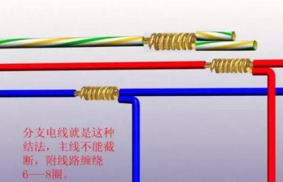 短路,与接触不良的现象,分支线路就是这种接法,主线路不能截断,附电线