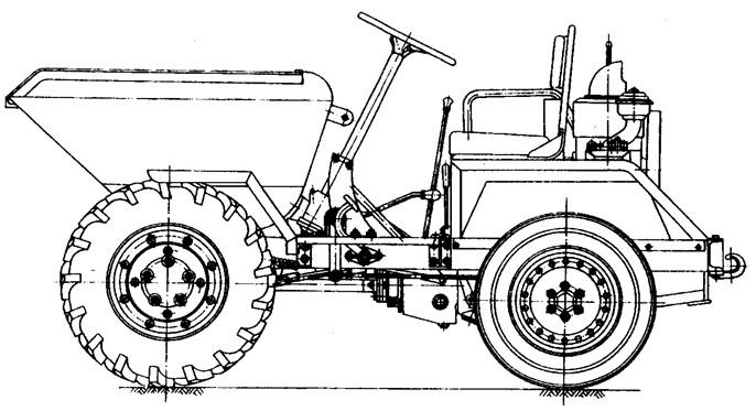 图10-15 机动翻斗车