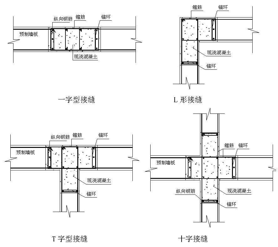 装配式混凝土剪力墙要点图纸及接缝设计结构有个6节点平方设计厨房图片