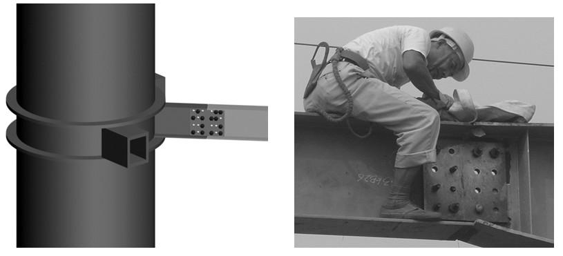 钢结构工程高强度螺栓安装工艺流程图