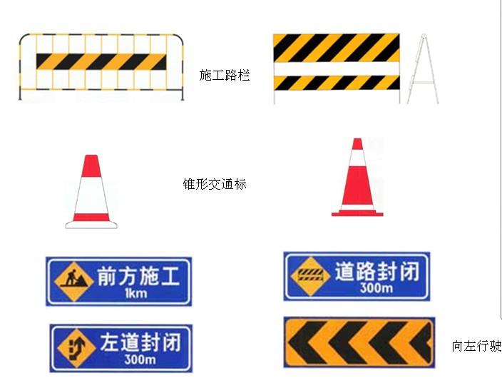 道路施工安全标志有哪些?