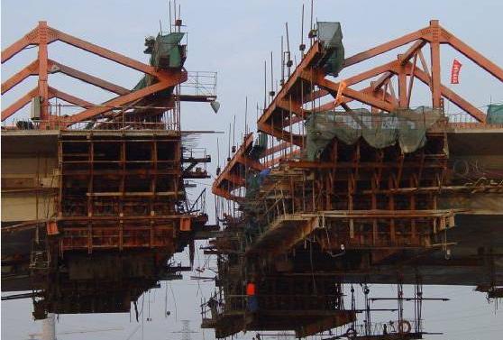 連續梁橋懸臂澆筑法施工流程和要點分析圖片
