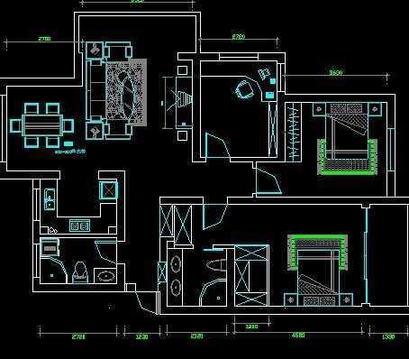 标准住宅套房平面设计图