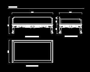 明代黄花梨三弯腿龙纹罗汉床设计图免费下载图纸jd+sd+什么代表意思图片