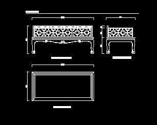 明代黄花梨罗汉床设计图免费下载-家具公路图纸毕业设计图纸图片
