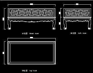 清代黄花梨罗汉床设计图免费下载-家具图纸3暗黑彩虹仗图纸图片
