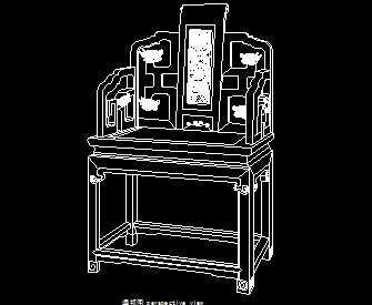 红木拐子龙纹扶手椅设计图免费下载-图纸高杆家具宽限米图纸7图片