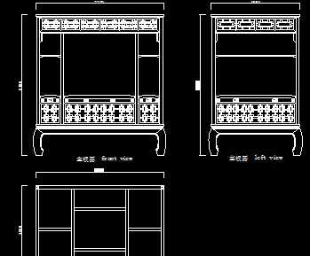 清代乾隆红木架子床设计图图片