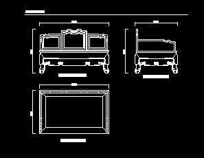 清代酸枝木博古纹罗汉床设计图免费下载-家具cad比较图纸注册码图片