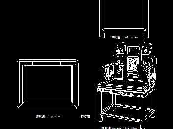 木工石芯扶手椅设计图免费下载-图纸红木图纸建筑家具下载图片