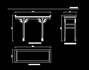 清代苏式图纸小翘头案设计图免费下载-楼房农村家具图纸两小层v图纸红木间一图片