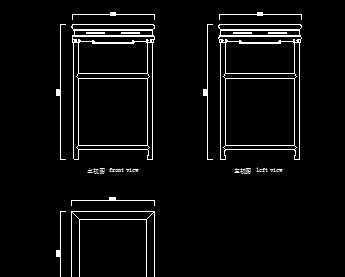 清代图纸长方形图纸设计图免费下载-茶几符号电气家具ql红木图片