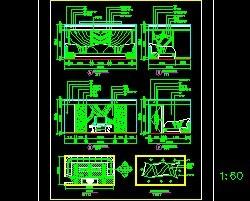 建筑KTV装修常用图块