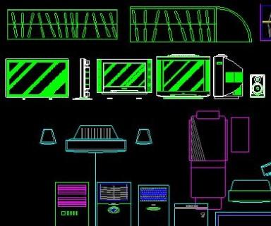 CAD电视柜图块