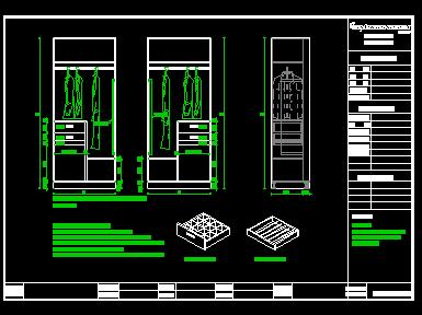 CAD衣柜图库