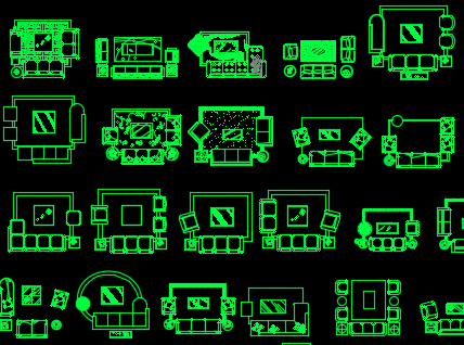 CAD家装模块图库