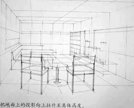 在做室内设计中常用的表现手法就是手绘,讲究快而表现力强,要能让人对