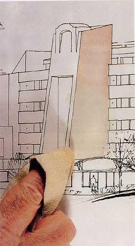 马克笔和蜡笔配合手绘教程
