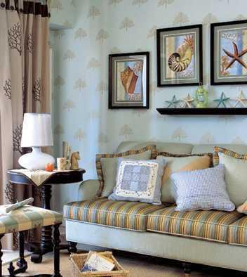 作为客厅主角的沙发,只需简单地铺上或羊毛或绒棉