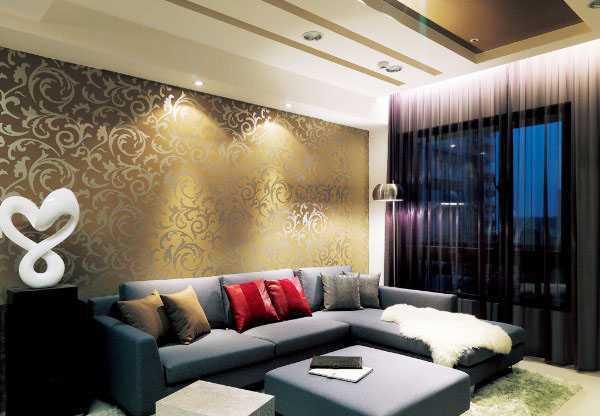 金色壁纸配什么颜色的家具