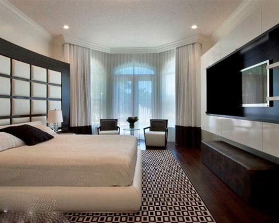 醇香冬日暖居 8个咖啡调卧室配色 - 装修效果图