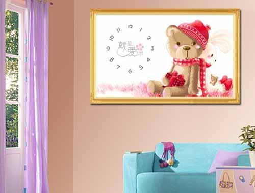 十字绣装饰 客厅装修效果图