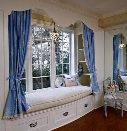 欧式公主房装修效果图飘窗