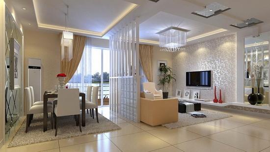 客厅隔断 2012最新装修效果图