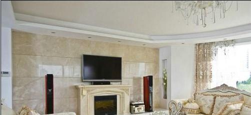 田园风格客厅电视背景墙 复式的打造 - 装修效果图图片