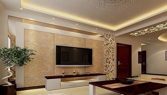 欧式客厅电视背景墙 视觉上的升华