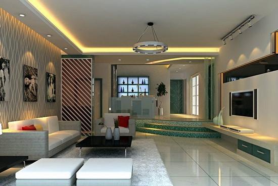 欧式客厅电视背景墙 2012的美