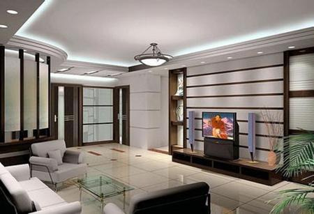 欧式客厅电视背景墙 公寓的简约