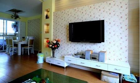 田园风格客厅电视背景墙 公寓的转型 - 装修效果图