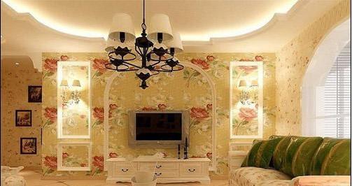 欧式卧室弧形背景墙