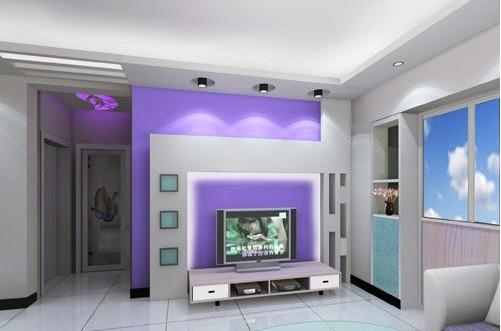 欧式客厅电视背景墙 造就简单唯美家