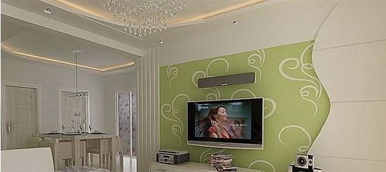欧式客厅电视背景墙 现代家居的感觉