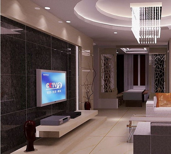 欧式客厅电视背景墙 高清家庭