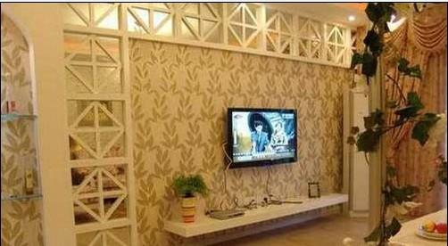 田园风格客厅电视背景墙 复式的打造图片