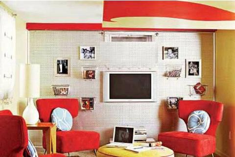 欧式客厅电视背景墙 80后的个性