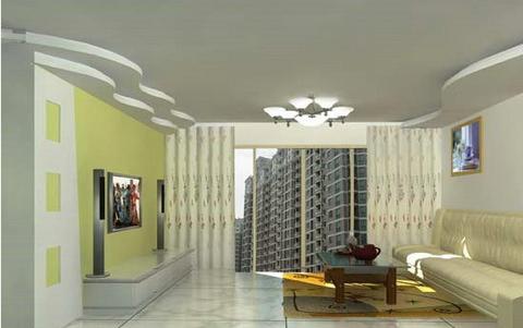 欧式客厅电视背景墙 精装修的时尚